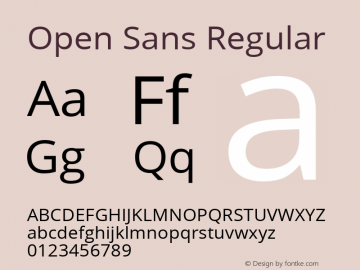 Open Sans Version 1.10图片样张