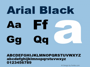 Arial Black Version 2.40图片样张