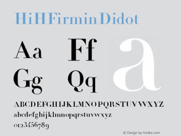 ☞HiH Firmin Didot Version 1.010;com.myfonts.hihretrofonts.hih-firmin-didot.regular.wfkit2.iUCc图片样张