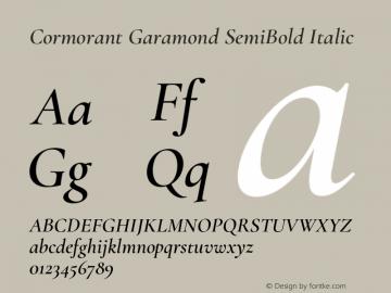 Cormorant Garamond Font,Cormorant Garamond SemiBold Italic Font