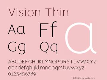 Vision Thin Regular 1.0图片样张