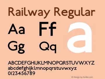 Railway 1.100; ttfautohint (v0.97) -l 8 -r 50 -G 200 -x 14 -f dflt -w G图片样张