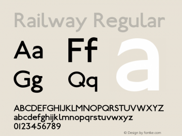 Railway Regular 1.100图片样张
