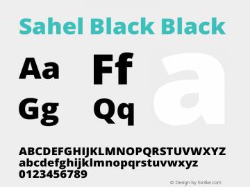 Sahel Black Version 1.0.0-alpha10 Font Sample