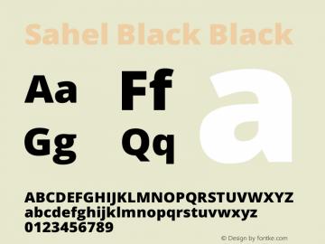 Sahel Black Version 1.0.0-alpha11 Font Sample