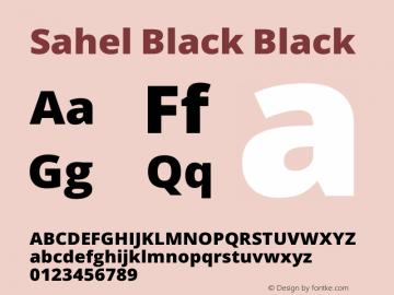 Sahel Black Version 1.0.0-alpha12 Font Sample