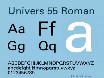 Univers OTF 1.0;PS 001.004;Core 1.0.22 Font Sample