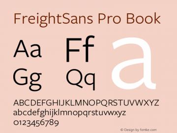 FreightSans Pro Book Version 3.00 April 1, 2017图片样张