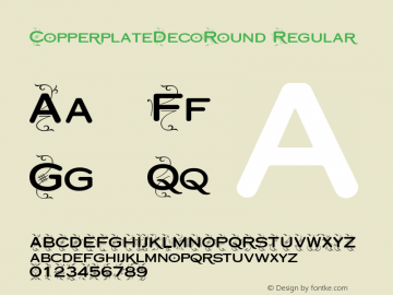 CopperplateDecoRound Regular Version 1.1图片样张