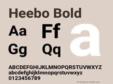 Heebo Bold Version 2.002;PS 002.002;hotconv 1.0.88;makeotf.lib2.5.64775图片样张