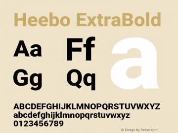 Heebo ExtraBold Version 2.002;PS 002.002;hotconv 1.0.88;makeotf.lib2.5.64775图片样张