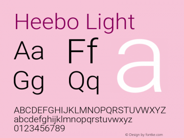 Heebo Light Version 2.002;PS 002.002;hotconv 1.0.88;makeotf.lib2.5.64775图片样张