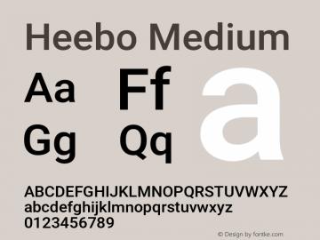 Heebo Medium Version 2.002;PS 002.002;hotconv 1.0.88;makeotf.lib2.5.64775图片样张