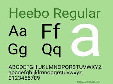 Heebo Regular Version 2.002;PS 002.002;hotconv 1.0.88;makeotf.lib2.5.64775图片样张