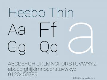 Heebo Thin Version 2.002;PS 002.002;hotconv 1.0.88;makeotf.lib2.5.64775图片样张