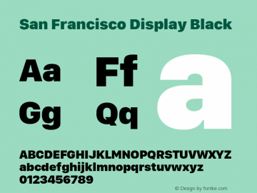 San Francisco Display Black 10.0d46e1图片样张