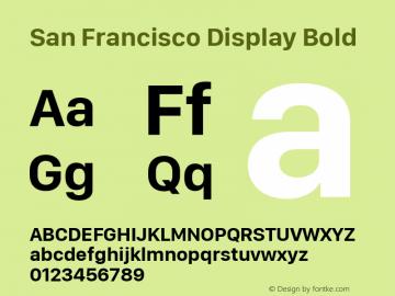 San Francisco Display Bold 10.0d46e1图片样张