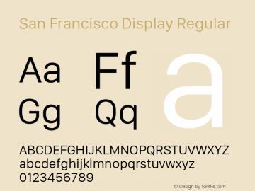 San Francisco Display Regular 10.0d46e1图片样张
