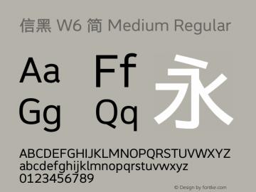 信黑 W6 简 Medium Version 1.00图片样张