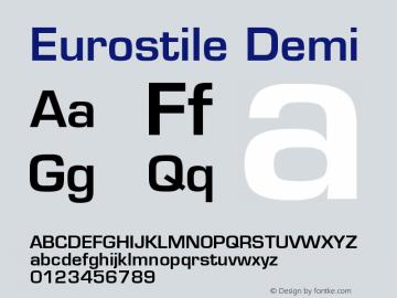 Eurostile Demi Version 001.001 Font Sample