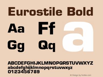 Eurostile Bold Version 001.001 Font Sample