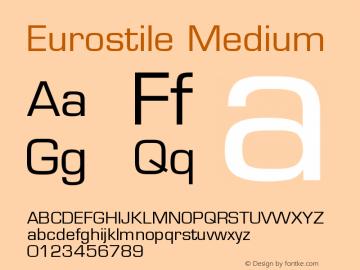 Eurostile Medium Version 001.002 Font Sample