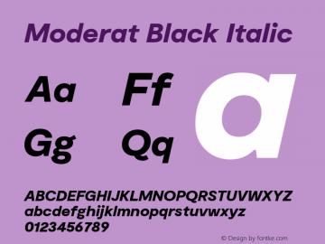 Moderat Black Italic Version 2.000;PS 002.000;hotconv 1.0.88;makeotf.lib2.5.64775图片样张