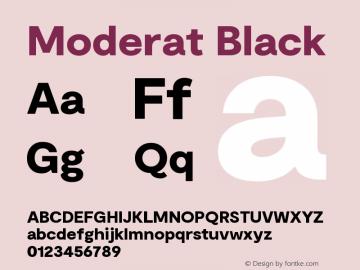 Moderat Black Version 2.000;PS 002.000;hotconv 1.0.88;makeotf.lib2.5.64775图片样张