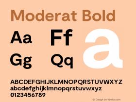 Moderat Bold Version 2.000;PS 002.000;hotconv 1.0.88;makeotf.lib2.5.64775图片样张