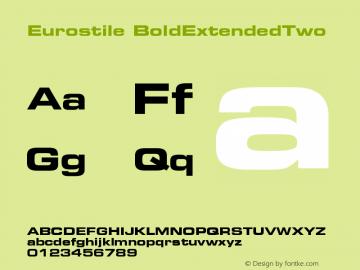 Eurostile BoldExtendedTwo Version 001.002 Font Sample