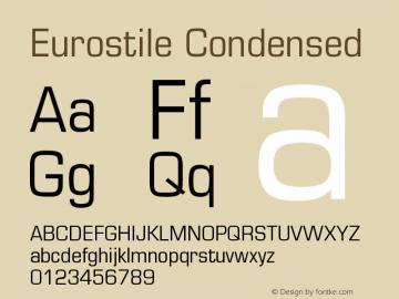 Eurostile Condensed Version 001.002 Font Sample