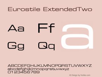 Eurostile ExtendedTwo Version 001.002 Font Sample