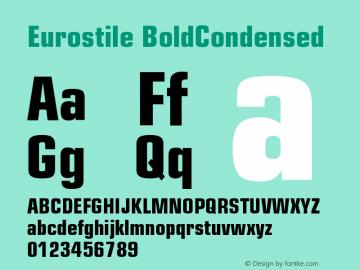 Eurostile BoldCondensed Version 001.002 Font Sample