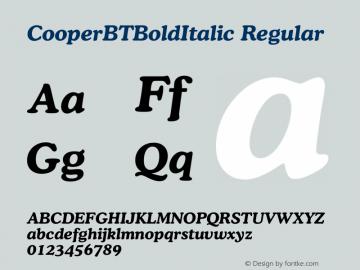 CooperBTBoldItalic Regular Version 1.00图片样张