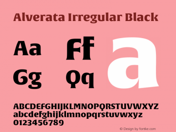 Alverata Irregular Bl Version 1.0图片样张