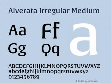 Alverata Irregular Md Version 1.000图片样张