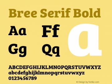 BreeSerif-Bold Version 1.001图片样张