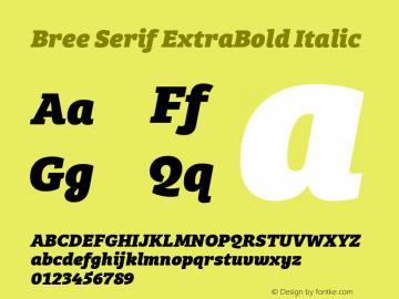 BreeSerifEb-Italic Version 1.001图片样张