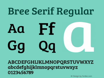 Bree Serif Version 1.001图片样张