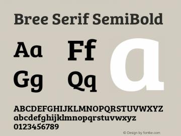 Bree Serif SemiBold Version 1.001图片样张