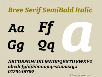 BreeSerifSb-Italic Version 1.001图片样张