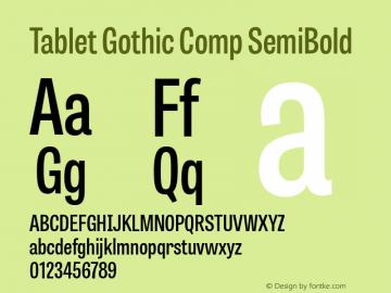 Tablet Gothic Comp Sb 1.000图片样张