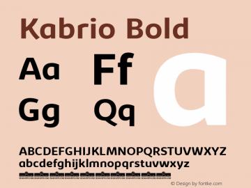 Kabrio-Bold Version 1.000图片样张