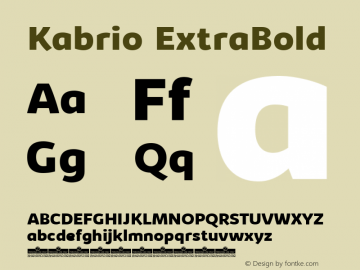 Kabrio-ExtraBold Version 1.000图片样张