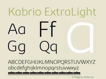 Kabrio-ExtraLight Version 1.000图片样张