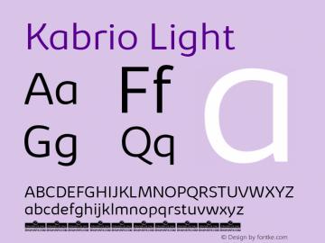 Kabrio-Light Version 1.000图片样张