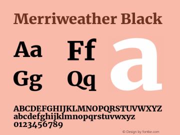 Merriweather Black Version 2.002图片样张