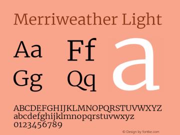 Merriweather Light Version 2.002图片样张