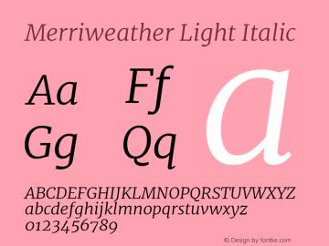 Merriweather Light Italic Version 2.002图片样张