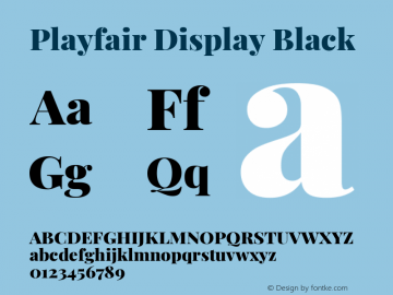 Playfair Display Black Version 1.200; ttfautohint (v1.6)图片样张